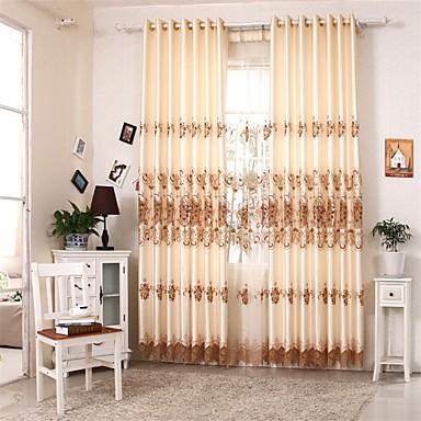 zwei Panele Europäisch Patchwork Wie im Bild Wohnzimmer Polyester Flächenvorhänge Vorhänge