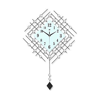 ריבוע / מצחיק מודרני / עכשווי שעון קיר,פרחוניים/בוטניים / דמויות / נופי / חתונה / משפחה זכוכית / מתכת 73cm x 48cm( 29in x 19in )