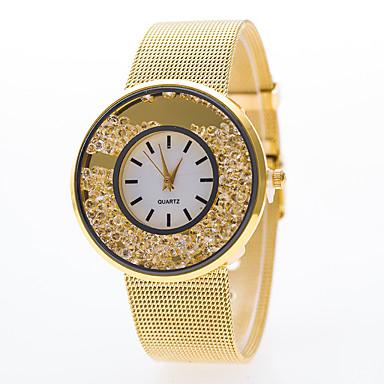 Mujer Reloj de Moda Cuarzo Reloj Casual Aleación Banda Analógico Plata / Dorado - Plata Dorado