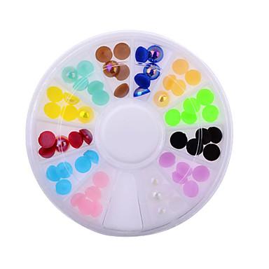 Art und Weise Frauen bunte Nagelkunst Rhinestones Dekoration für UV Gel Telefon Laptop DIY Nagel-Werkzeuge