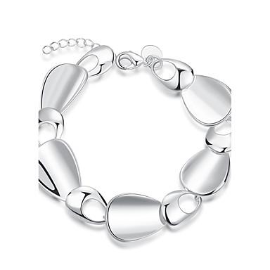 Damen Ketten- & Glieder-Armbänder versilbert Silber Schmuck Für Hochzeit Party Alltag Normal 1 Stück