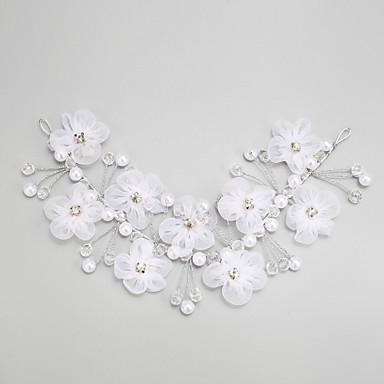Femme Jeune bouquetière Strass Alliage Imitation de perle Casque-Mariage Occasion spéciale Serre-tête 1 Pièce