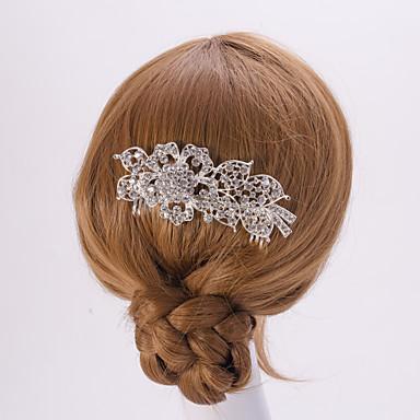 Silber / Blattgold Blütenform Kristallperle Haarkämme für die Hochzeit Partei Dame