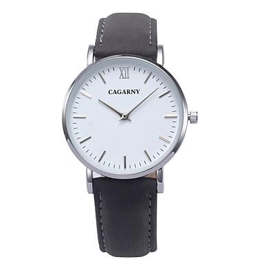Damen Modeuhr Quartz Armbanduhren für den Alltag Leder Band Charme Schwarz Braun