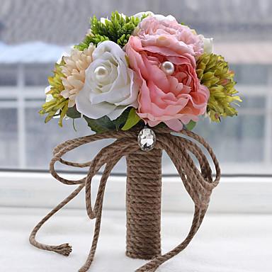 פרחי חתונה זרים חתונה מסיבה\אירוע ערב פרחים מיובשים תחרה פּוֹלִיאֶסטֶר אורגנזה מֶשִׁי 13.38