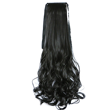 Mit Clip Pferdeschwanz Raffhalter Synthetische Haare Haarstück Haar-Verlängerung Glatt Locken