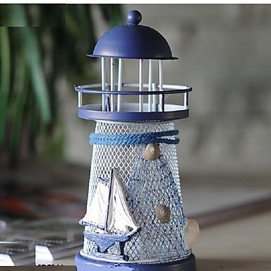 mediterráneo espumoso océano tin faro figurines moda artesanías de metal pareja romántica regalos de boda