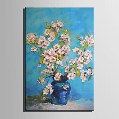 Håndmalte Blomstret/Botanisk Moderne / Europeisk Stil,Et Panel Hang malte oljemaleri