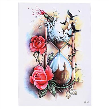 8pcs DIY Körper Arm Kunst Tattoo Frauen Männer Aufkleber Rose Blume Bild Design temporäre Tätowierung Aufkleber wasserdicht Dekoration