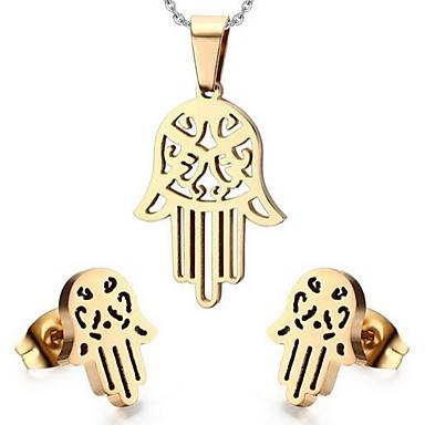 Schmuck Halsketten / Ohrringe Schmuckset Modisch Party / Alltag / Normal Edelstahl 1 Set Damen Goldfarben / Silber Hochzeitsgeschenke