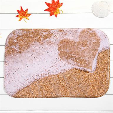1pç Casual Tapetes Anti-Derrapantes Poliéster Contemporâneo Banheiro Fácil de limpar