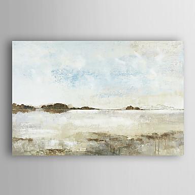handgemaltes Ölgemälde Landschaft Einsamkeit Meer mit gestreckten Rahmen 7 Wand ARTS®