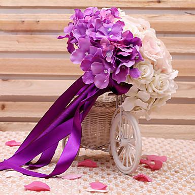 Hochzeitsblumen Sträuße Hochzeit Seide Satin 23 cm ca.