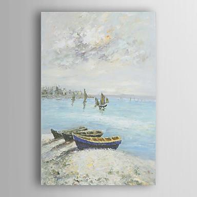 Pintados à mão Paisagem Vertical, Modern Tela de pintura Pintura a Óleo Decoração para casa 1 Painel