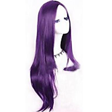 Synthetische Perücken Natürlich gewellt Lila Kappenlos Karnevalsperücke Halloween Perücke Synthetische Haare