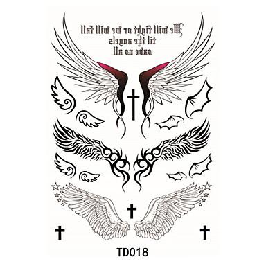 1 pcs Tatuajes Adhesivos Los tatuajes temporales Art Deco / Retro Impermeable / 3D Artes de cuerpo Rostro / manos / brazo