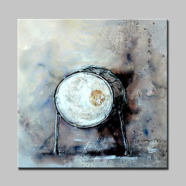 lager pintados à mão pintura a óleo tambor abstrata no retrato da arte da parede da lona para casa Whit quadro pronto para pendurar