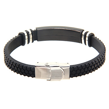 Homme Bracelets Rigides Mode Fait à la main Cuir Acier au titane Bijoux Pour Quotidien Décontracté 1pc