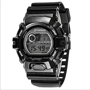 SYNOKE ילדים שעוני ספורט שעון יד שעון דיגיטלי דיגיטלי LCD לוח שנה כרונוגרף עמיד במים אזעקה זורח גומי להקה שחור