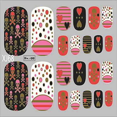1 pc nail art 3d stickers glitter Ongles autocollants 22 à coller à chaud estampage d'une série de