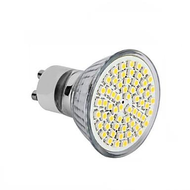 4pçs 3.5 W 300-350 lm GU10 / GU5.3(MR16) / E26 / E27 Lâmpadas de Foco de LED MR16 60SMD Contas LED SMD 2835 Decorativa Branco Quente /