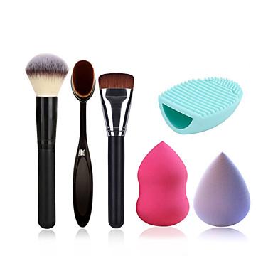 Puderpinsel Make-up Zahnbürste Foundation-Pinsel Reinigungsbürste Ei und Make-up Schwamm (Wasser bekommen kann größer werden)