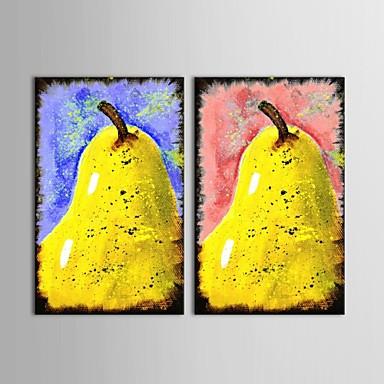 Håndmalte Still Life Moderne / Parfymert,To Paneler Hang malte oljemaleri