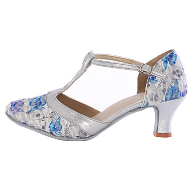 Women's Modern Shoes Synthetic Microfiber PU Sneaker Customized Heel Customizable Dance Shoes Blue / Indoor
