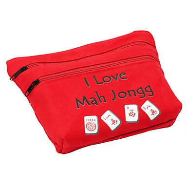 royal st 20 mm cristal miniature mahjong mahjong avec sac en tissu pour les sacs de voyage or / tissu