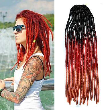 20 inch horgolt zsinór lágy dreadlock Havanna mambo csavar fonással haja fekete ombre vörös ombre narancs