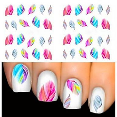 2 pcs Negle Smykker Negle kunst Manicure Pedicure Smuk Mode Daglig / PVC / Negle smykker