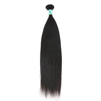 Gerçek Saç Düz Brezilya Saçı İnsan saç örgüleri Düz Saç uzatma 1 Parça Siyah