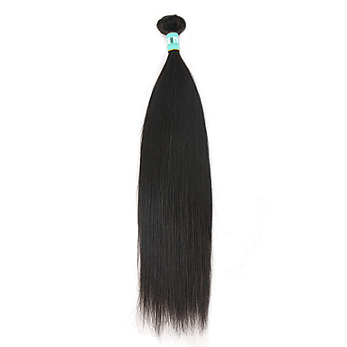 Brazilian Hair Straight Virgin Human Hair Natural Color Hair Weaves Human Hair Weaves Soft Natural Black