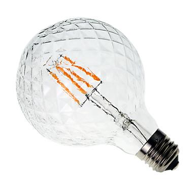 1pc 4W 300-350lm E26 / E27 LED Glühlampen G60 4 LED-Perlen COB Dekorativ Warmes Weiß 220-240V