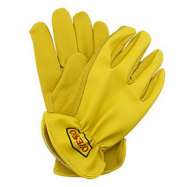 Rindsleder-PU-Haut-Handschuh