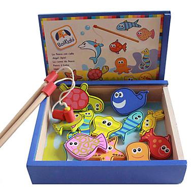 trekasse pakke fiske magnetiske leker, barne magnetiske fiske leketøy