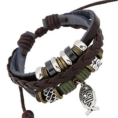 Bracelet Bracelets de rive / Bracelets en cuir Alliage / Cuir Mariage / Soirée / Quotidien / Décontracté / Sports Bijoux Cadeau Brun,1pc