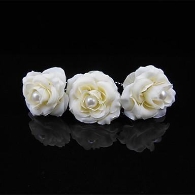 Perle Kopfbedeckung / Haar-Stock / Haarnadel mit Blumig 1pc Hochzeit / Besondere Anlässe Kopfschmuck