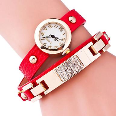 Mulheres Relógio de Moda Bracele Relógio Quartzo Lega Banda Preta Azul Vermelho Marrom Verde Dourada RosaVerde Rosa claro Dourado Azul