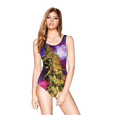 Femme Etanche Vestimentaire Térylène Tenue de plongée Manches courtes Robes-Natation Eté Floral / Botanique