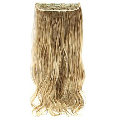 hossza 60cm arany magas hemperature vezetékes paróka póthaj szintetikus haj