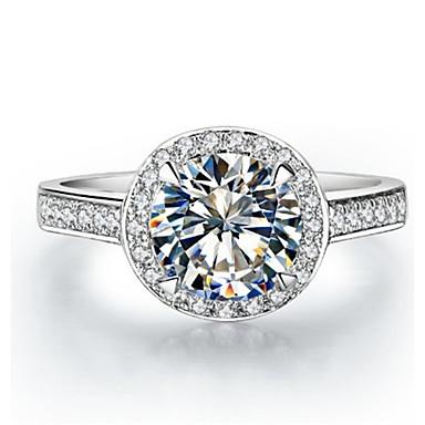 Gyűrűk Divat / Régies (Vintage) Esküvő Ékszerek Ezüst Női Vallomás gyűrűk 1db,5 / 6 / 7 / 8 / 9 / 9½ / 4