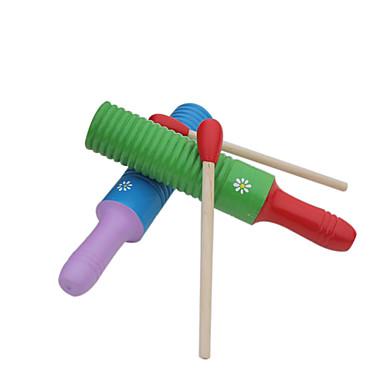 madeira instrumento vermelho / verde / amarelo / azul percussão para crianças todos os instrumentos musicais de brinquedo