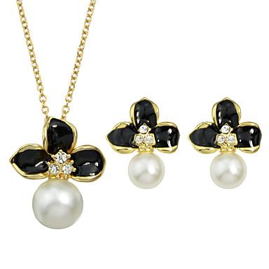 Schmuck Halsketten / Ohrringe Halskette / Ohrringe Party / Alltag 1 Set Damen Goldfarben Hochzeitsgeschenke