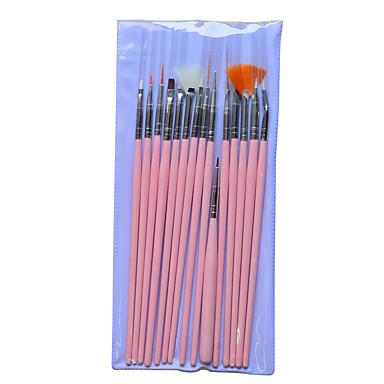 15pcs/set Acessórios de Pintura / Prego Kit Escova Chique & Moderno / Na moda Nail Art Design Escovas de unhas Diário / Profissional Chique & Moderno / Na moda