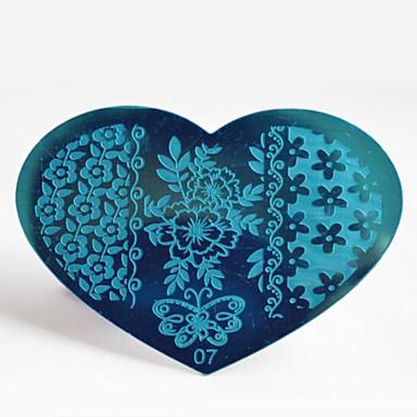 Neglekunst Nail Stamping Tool Chic & Moderne Mote Høy kvalitet Daglig Nail Art Design