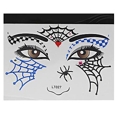 Airbrush-Tattoo Schablonen- fürDamen Erwachsener-Rot-Papier-1Stück -14*14*0.3