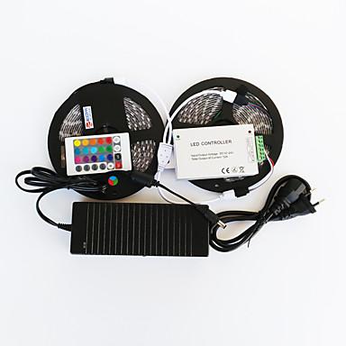 ZDM™ 10 M 600 5050 SMD RGB Kuttbar / Fjernkontroll / Mulighet for demping / Passer for kjøretøy / Selvklebende / Fargeskiftende 144 W
