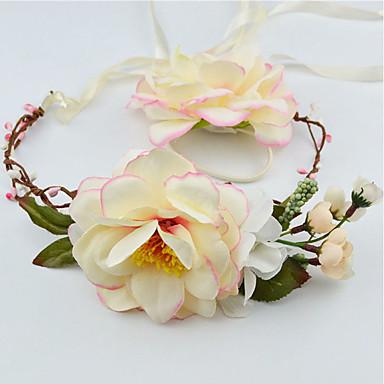 Damen Blumenmädchen Stoff Kopfschmuck-Hochzeit Besondere Anlässe Freizeit Kränze 2 Stück
