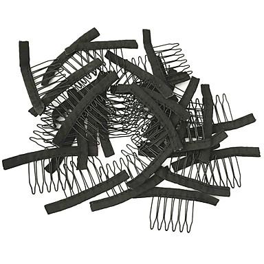 Perücke-Zubehörteilen, Perücke Kämme und Clips für Perücke Kappe, schwarze Farbe, preiswerter Preis 10pcs / lot